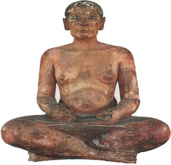 Статуя писца Каи. V династия Египет